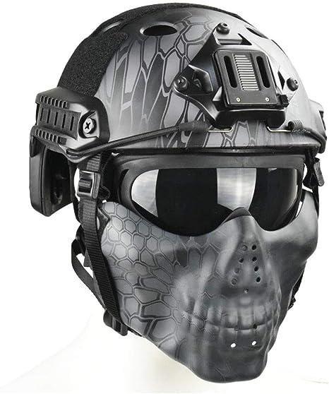 BBYaki PJ Tactical Fast Helmet & Double Straps Half Face ...