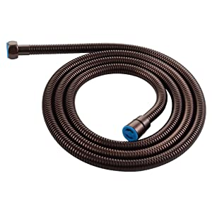 """Extra Length Shower Hose, Angle Simple 79"""" Flexible Metal Handheld Shower Hose Brass Connector Universal Bathroom Faucet Fixtures Pipe Sprayer Hose No Tangles Oil Rubbed Bronze"""