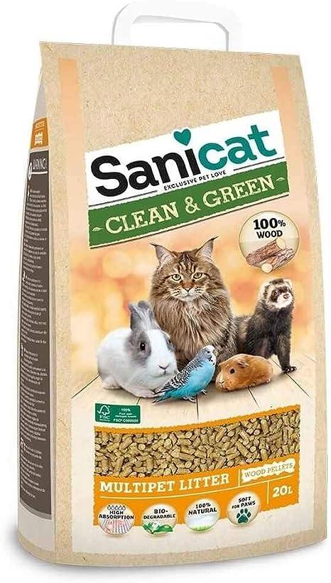 Sanicat Pellets Absorbentes Ecológicos para Gatos 100 ...