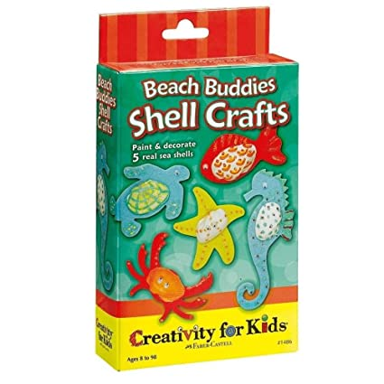 Faber Castell Creativity For Kids Activity Kit Beach Buddies Shell Crafts Mini