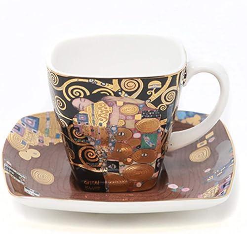 Goebel Artis Orbis Klimt mit Echtgold-Auflage, Espressotasse mit Unterteller