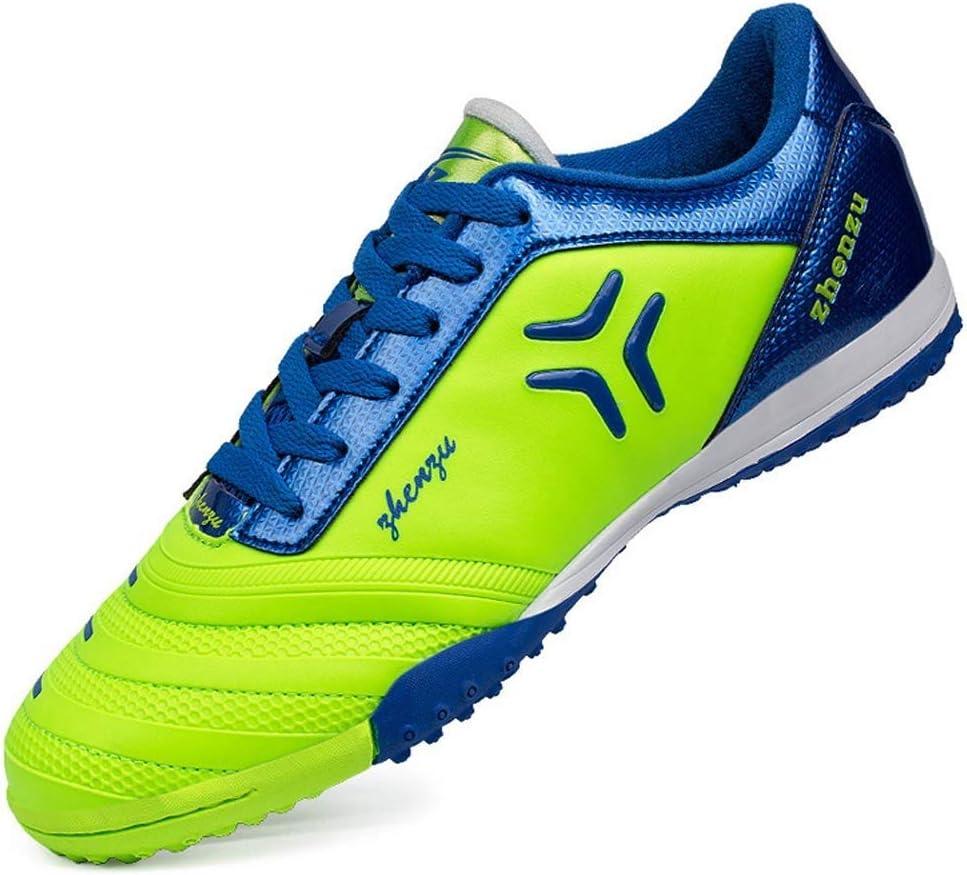 Las botas de fútbol for hombres, club juvenil botas de fútbol profesional grapas al aire libre (niños-adultos) clásicos picos azules FG menor aptitud de pista y campo de rugby zapatillas de deporte de