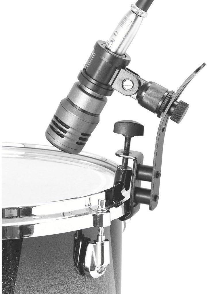 Adjustable Shockproof Metal Drum Rim Microphone Clip Holder suit for Microphone Drum Edge Clamps Holder