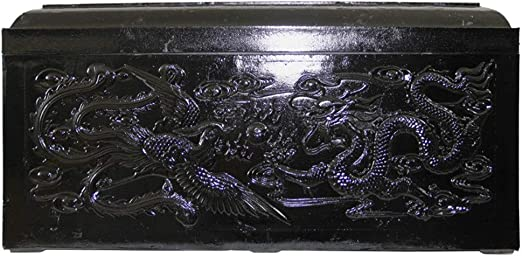 Oipoodde Caja de Cenizas Funeral Suministros Ash Caja Tallada Doble Dragón y Phoenix Caja Resina Ash La cremación urnas de Madera (Color : A, Size : 682x302x331mm): Amazon.es: Hogar