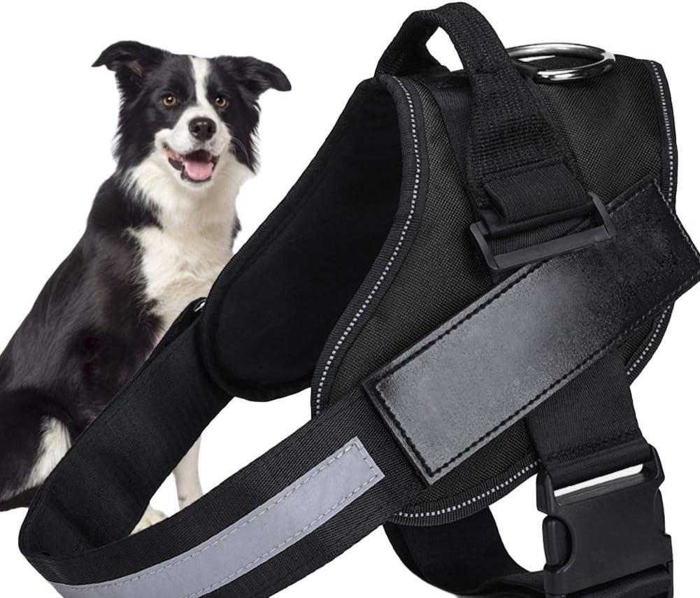 SCOBUTY Hundeweste Geschirr,Hundegeschirr,Powergeschir,Mit reflektierendem Patch und komfortablem Mesh-Design kein Ziehen oder W/ürgen mehr