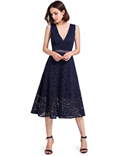 Alisa Pan Double V-Neck Sleeveless Retro Floral Lace Evening Dresses 05919 9c23f2bca