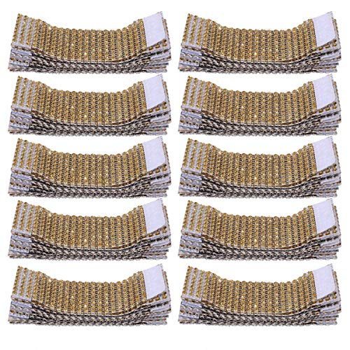 LIHEXING 100PCS Napkin Rings, Napkin Rings Adornment for DIY Party, Wedding Party, Birthday Supplies, Banquet Dinner and More - Gold/Silver]()