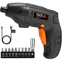 Tacklife Cordless Electric Screwdriver with 10 Driver Bits