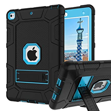 iPad 6th Generation Cases, iPad Case, iPad 9.7 Inch Case, Hybrid Shockproof Rugged Drop Protection Cover Built with Kickstand for iPad 9.7 inch A1893 ...