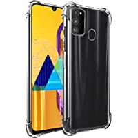 TheGiftKart Flexible Shockproof Crystal Clear TPU Back Cover Case with Cushioned Edges for Ultimate Protection for Samsung Galaxy M30s (Transparent)