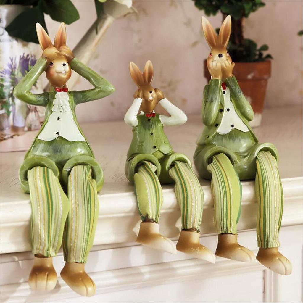 Artigianato di decorazione Rinnovamento resina soggiorno arredonnato per la casa armadietto del vino simpatico cartone animato creativo decorazioni familiari coniglio piccoli arredi ( colore   A )