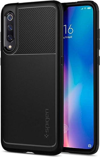 Spigen, Funda Compatible con Xiaomi Mi 9, [Rugged Armor] Absorción de Choque Resistente y diseño de Fibra de Carbono [Compatible con Carga Inalámbrica]: Amazon.es: Electrónica