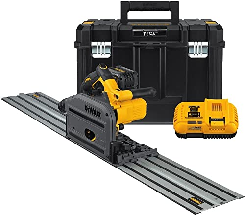 DEWALT DCS520ST1 60V MAX 6-1 2 165mm Cordless Track Saw Kit with 59 Track