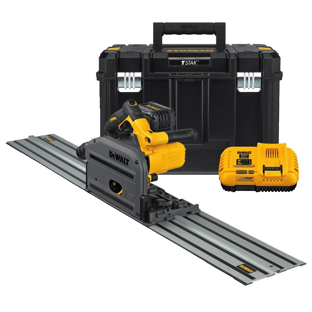 "DEWALT DCS520ST1 60V MAX 6-1/2"" (165mm) Cordless Track Saw Kit with 59"" Track"