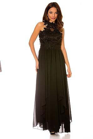 Longue Robe de soirée Noir évasé avec Magnifique Dentelle au Buste. Mode  R1260 156e4e8e43c