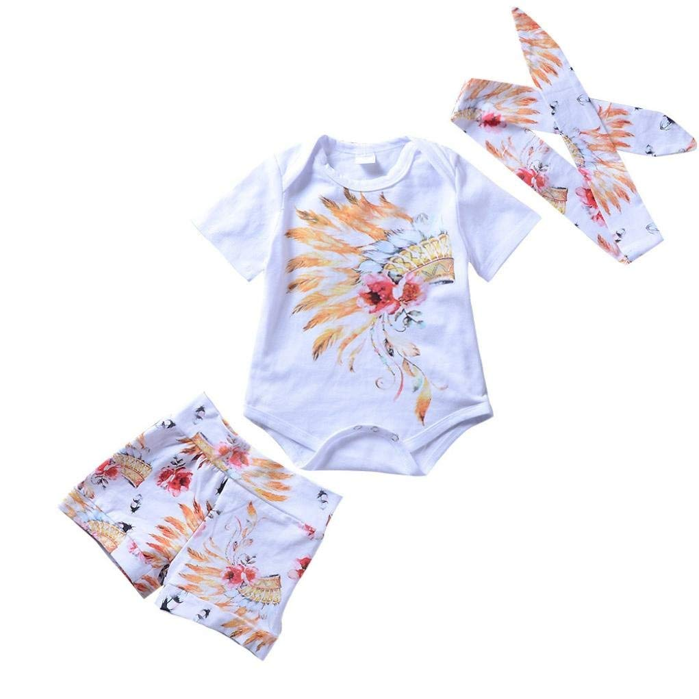 Baby Girls Clothes,3 Pieces Layette Matching Tribe Set Infant Wear Spring//Summer Fashion Toddler Baby Paywear Clothes Set