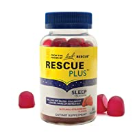 RESCUE PLUS Sleep Gummy, Dietary Supplement Sleep Aid, Natural Strawberry Flavor...