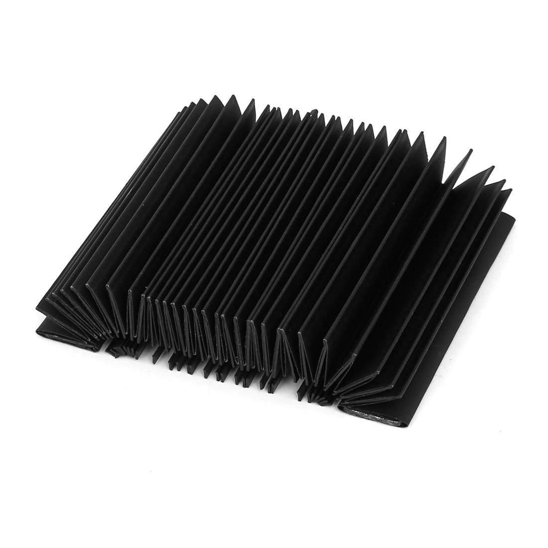 uxcell 100mmx56mmx30mm Rectangle Shape Accordion Dust Cover Black for Milling Machine