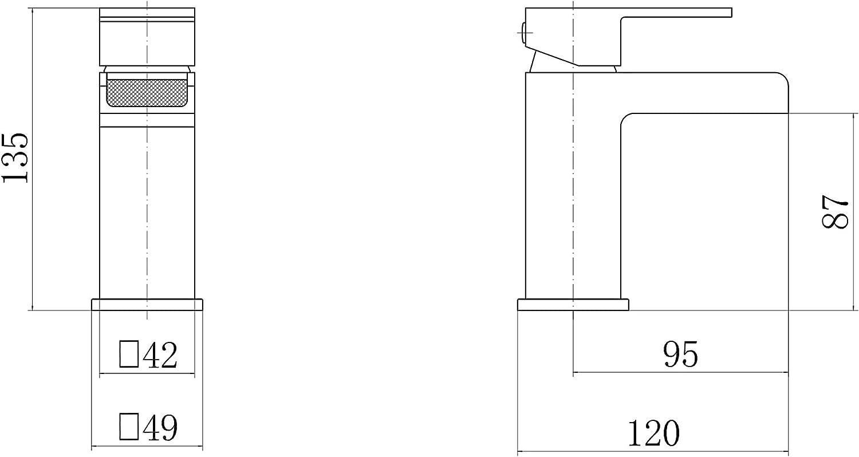 Waste VeeBath Sobek Minimalist High Gloss White 800mm Vanity Sink Unit with Waterfall Designer Chrome Basin Mixer Tap