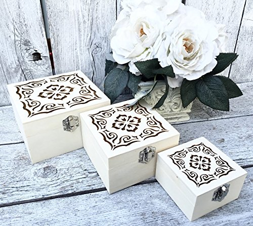 Amazon Com Raw Laser Cut Hinged Boxes Unfinished Wood Boxes