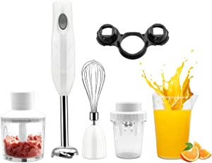 TMXP Immersion Hand Blender , 5 in 1 Household Multifunctional Cooking Stick, with Mixing Cup, Food Mixer and Grinding Cup, Can Be Used for minced meat, Beating Eggs, Stirring Grinding.