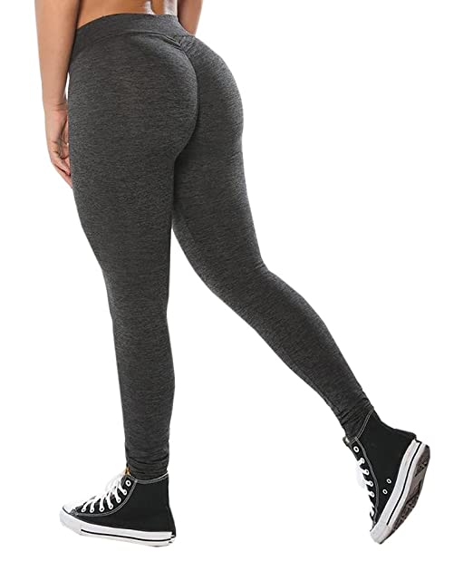 ca42f3bb8c Remikstyt Womens Booty Scrunch Leggings Push Up Soft Workout Black High  Waist Yoga Pants at Amazon Women's Clothing store: