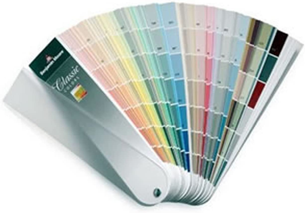 Benjamin Moore paint colors swatches fan deck
