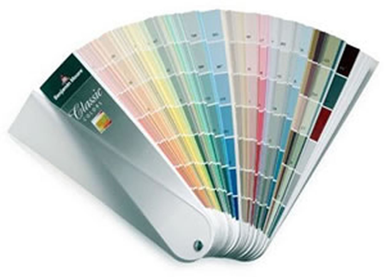 Benjamin Moore Classic Colors Fan Deck - use this tool to choose the best paint colors for your space! #interiordesign #bestpaintcolors #benjaminmoore