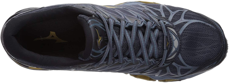 Mizuno Men's Wave Prophecy 7 Running Shoes Black/Ombre Blue