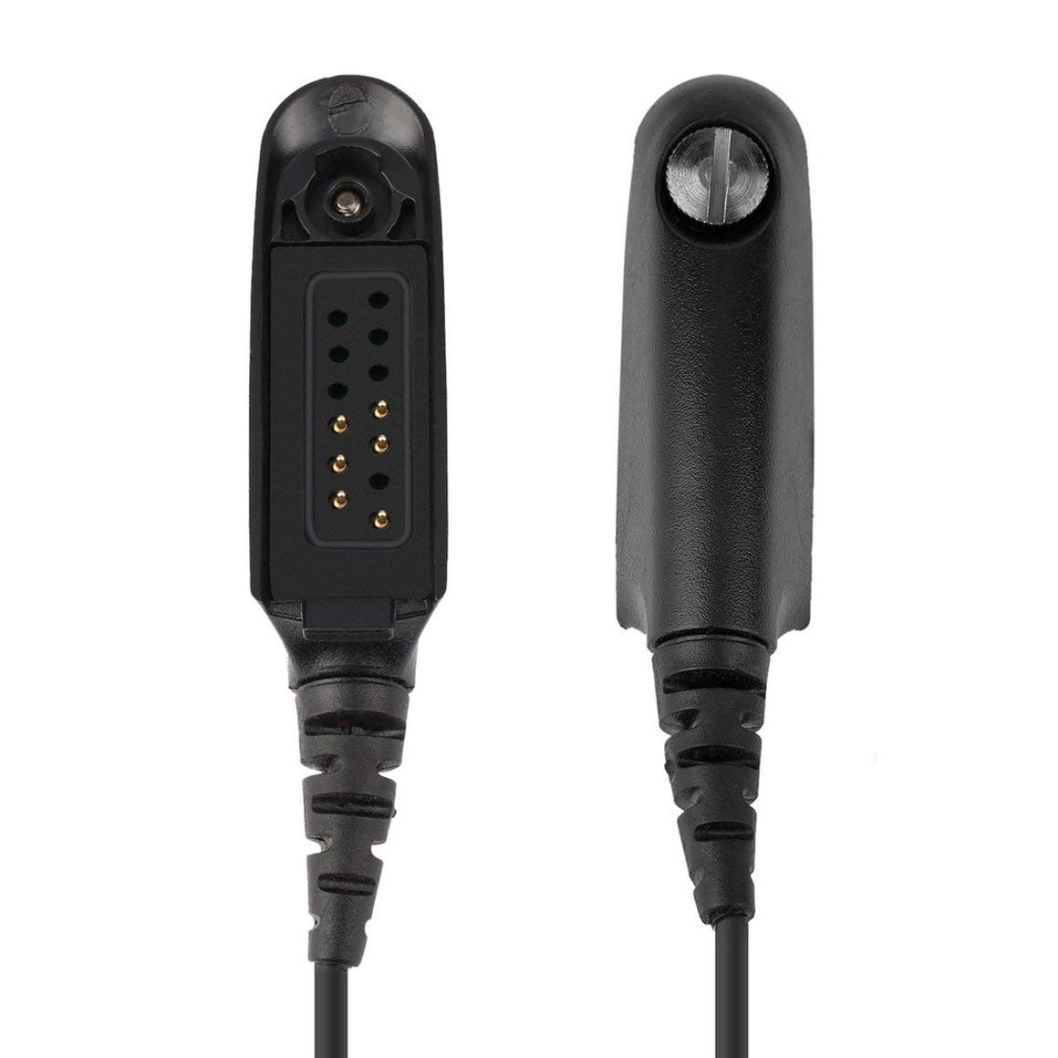 Funnyrunstore Covert Auricular ac/ústico para Auriculares con micr/ófono para Motorola Gp328 Gp340 Gp360 Gp380 Gp640 Gp680 Gp1280 Radio de Dos v/ías Negro