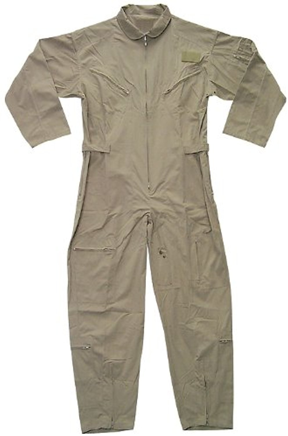 US Air Force Style Military Camouflage Flight Suit Coveralls (Khaki, X-Large)