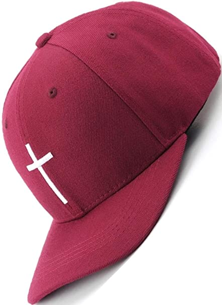 Bexxwell Gorra de béisbol roja con Bordado en Cruz (Ajuste óptimo ...