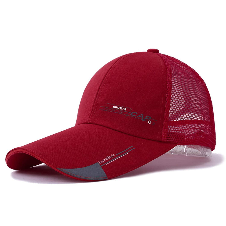 f3f5269ff3a Jeremy Stone Long Brim Shade Snapback Sports Cap Men Women Hat for Fish  Outdoor Mesh Baseball Cap Summer Dad Hat Bone Black at Amazon Women s  Clothing store ...