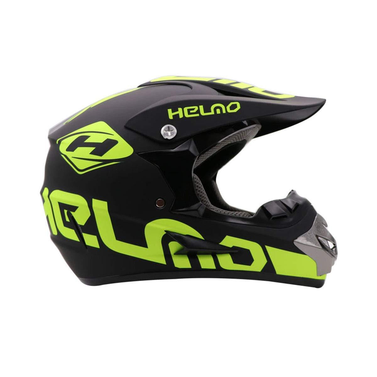 YUCARAC Motocross Helmet Adult Off-Road Motorcycle Helmet Kit Casco Integral Unisex Enduro Quad MTB Downhill ATV con Gafas Guantes M/áscara para j/óvenes Adultos Hombres Mujeres