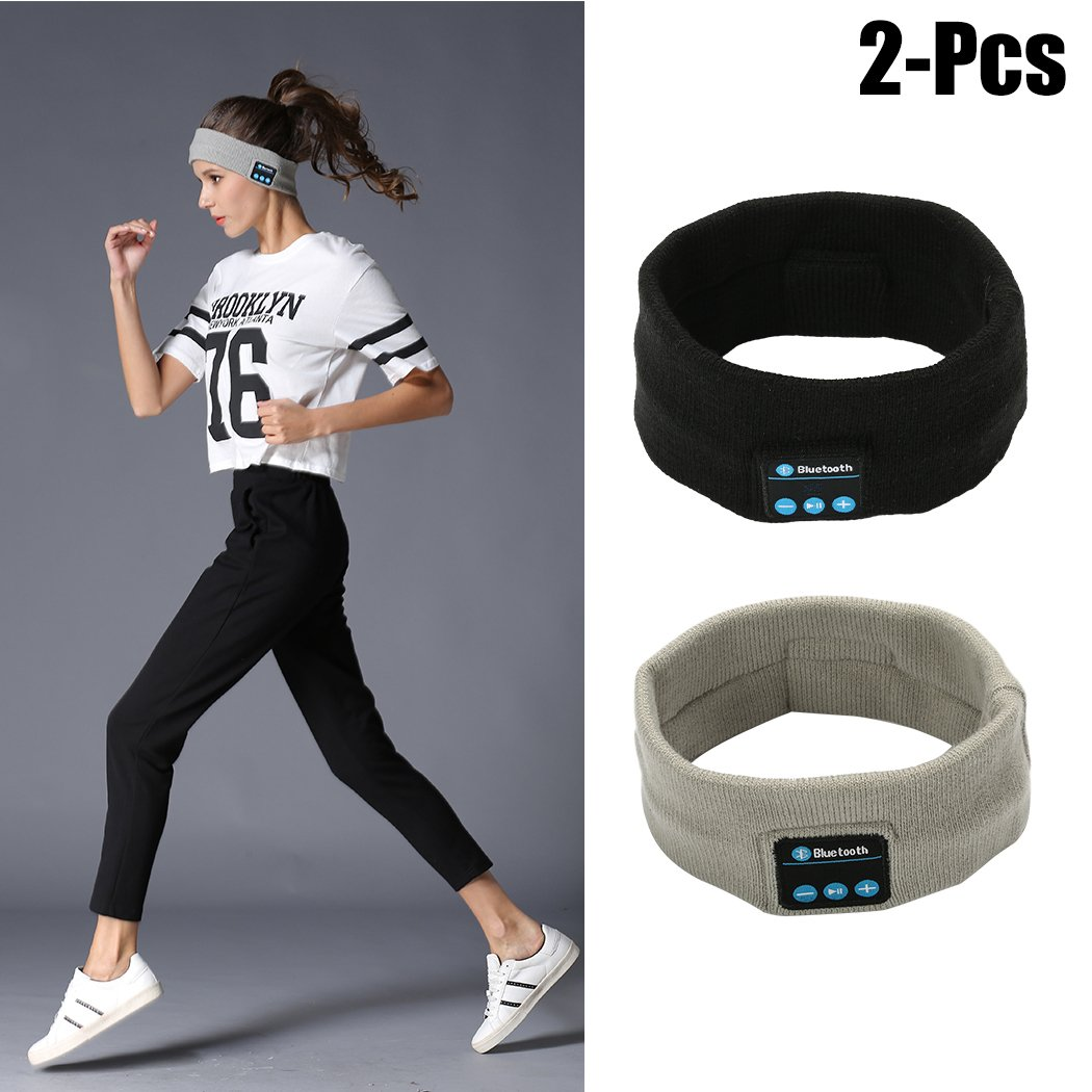 Outgeek Music Headband Sports Headband Built in Wireless Speaker Headset Sleeping Headband Headphone Headband Bluetooth Headband for Gym Running