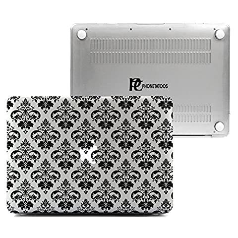 MacBook Air 13 Case, Plastic Hard Shell Snap On Clear Case Cover for Apple Mac Air 13.3 inch (ONLY FITS Model: A1466 & A1369) - Zebra Parts Screw