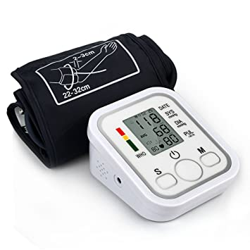 Monitor de presión arterial, HailiCare Tensiómetro de brazo LCD Pantalla para Lectura Fácil y Indicador