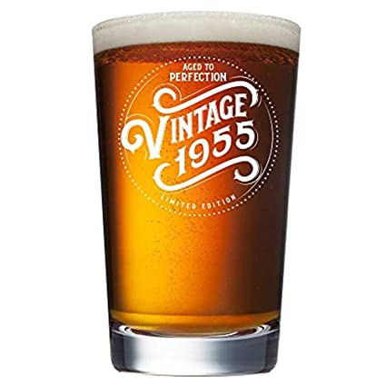 1955 64th Birthday Gifts For Men And Women Beer Glass
