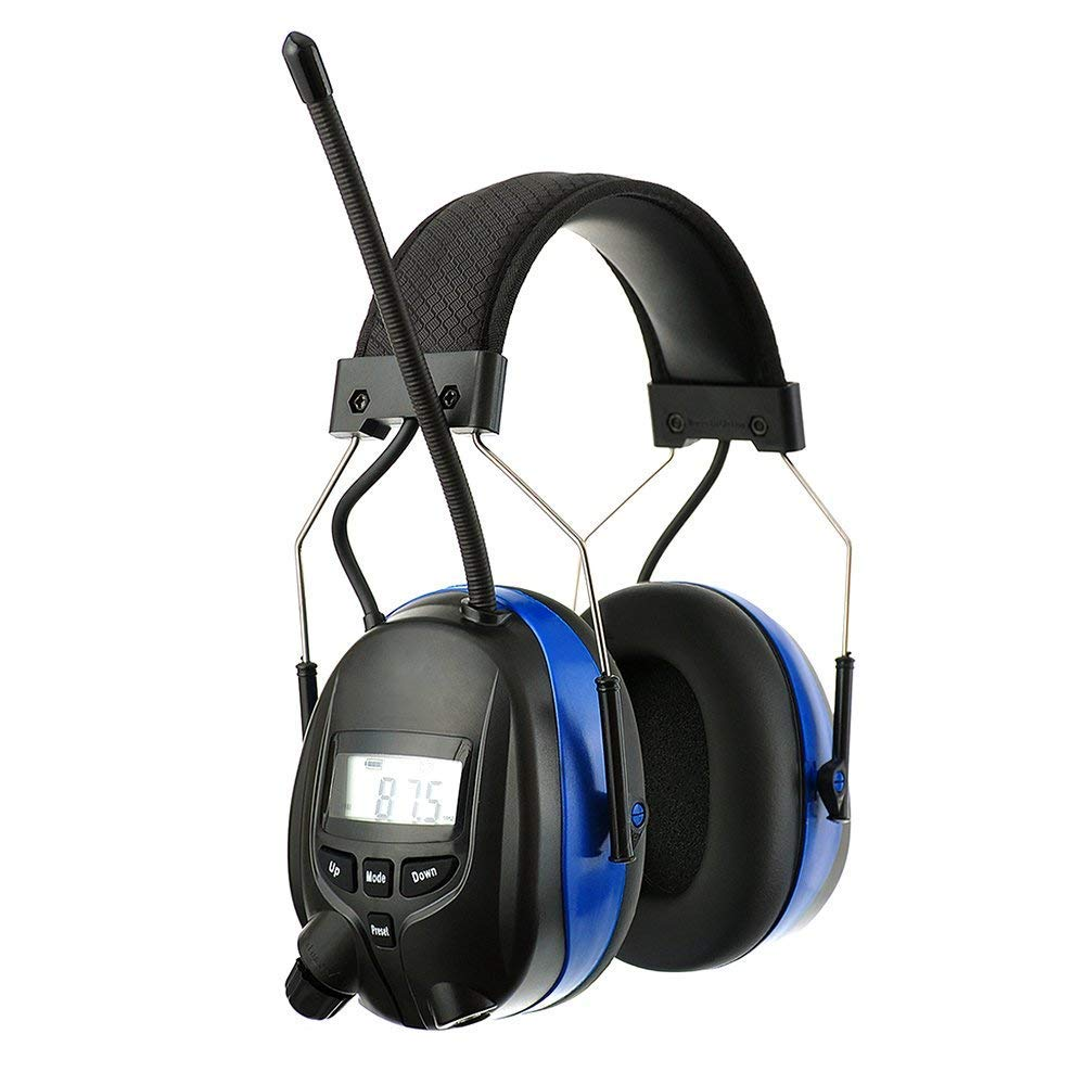 PROTEAR Bluetooth Noise Reduction Wireless Earmuffs AM FM Digital Radio with Rechargeable Lithium Battery, NRR 25dB Professional Ear Hearing Protection Electronic Headphones with a Carrying Case by PROTEAR (Image #3)