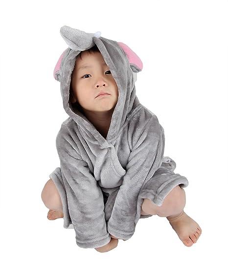 Winthome Pijama Bebé, Albornoces de Franela, Suave Ropa de Dormir para Niños (S