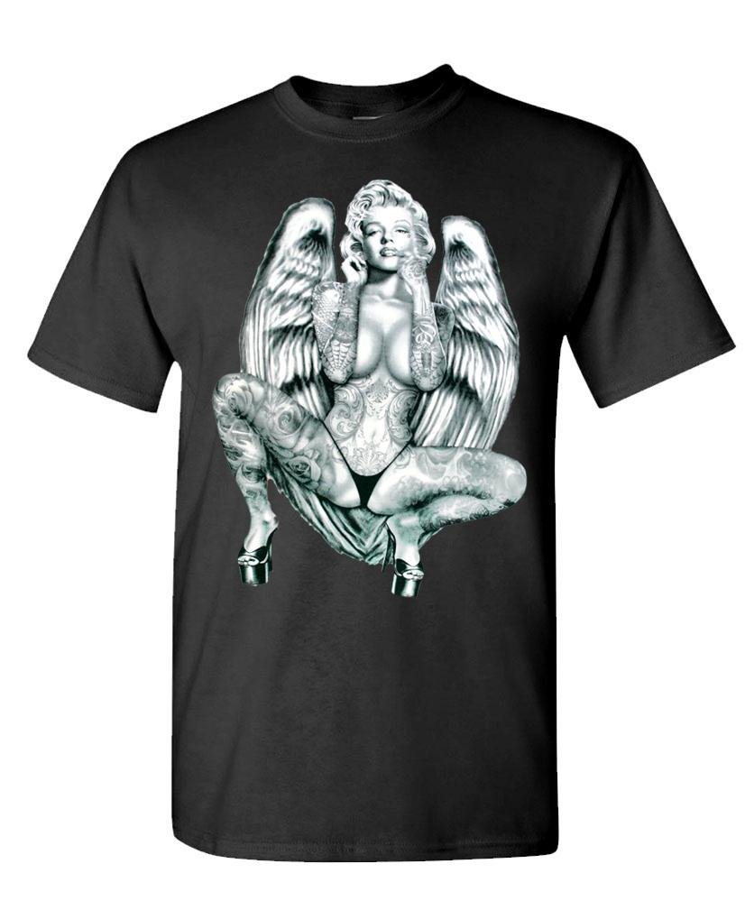 Tattooed Angel Wings Marilyn Monroe S Tshirt
