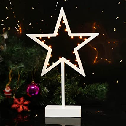 Bright Zeal 10quot W Five Pointed Star Shape Led Lights With 6Hr Timer