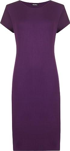 WearAll Women's Plus Size Plain Midi Dress