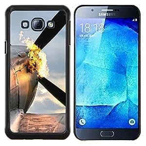 Plano Flaming- Metal de aluminio y de plástico duro Caja del teléfono - Negro - Samsung Galaxy A8 / SM-A800