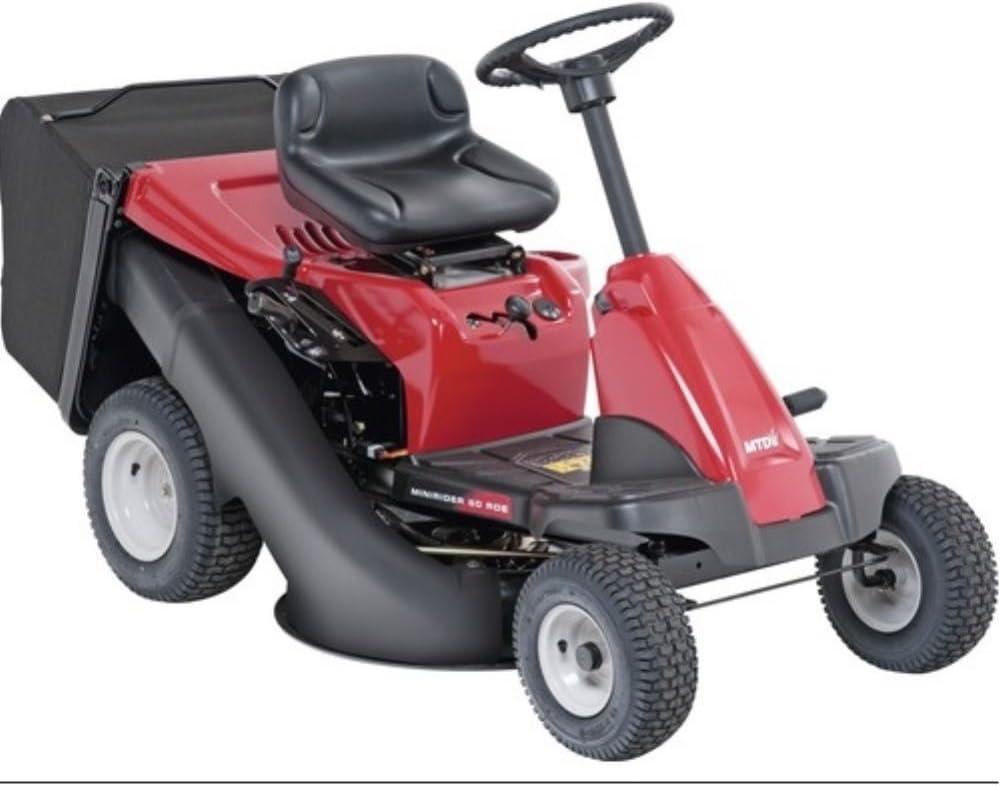MTD 13AA26SC600 Tractor Cortacésped Minirider 60 RDE de Asiento, 3700 W, Negro, Rojo