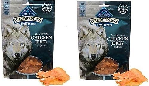 Blue Buffalo Wilderness Chicken Dog Jerky Treats-3.25 oz Pack of 2