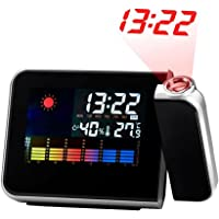 Despertador Digital c/ Projetor de Horas Preto DS8190