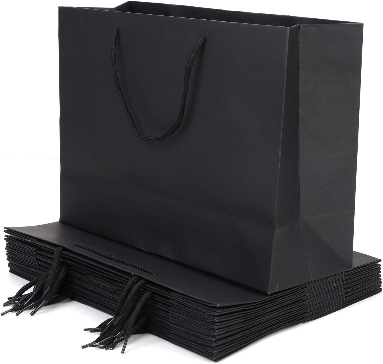 1pc Kraft Paper Bag Wedding Party Gift Packing Bag Resuable Shopping Bag Black