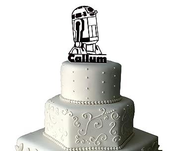 R2d2 Star Wars Acryl Kuchen Topper Geburtstag Kuchen Topper