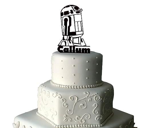 R2D2 Star Wars Decoración para tarta para acrílico ...